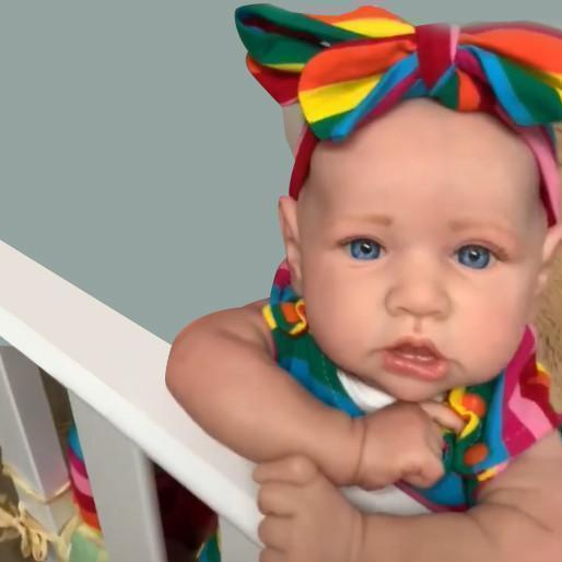 Gift item two reborn child dolls in your son or daughter on his / her bday party